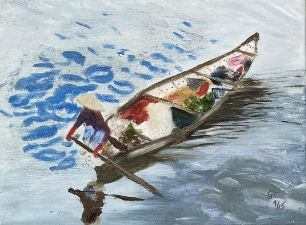 Lot 15: Gillian Carpenter - Trading on the Mekong
