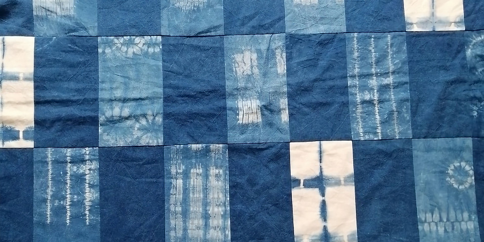 'Create your own stitched Shibori panels' zoom session