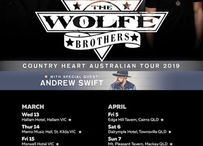 Wolfe Brothers & Andrew Swift East Coast Tour