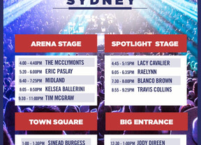 C2C Festival Performance & Signing Times