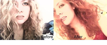Before and after natural red hair dye