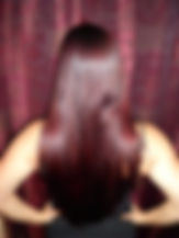 Natural burgundy hair dye after