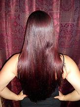 Natural burgundy hair dye after