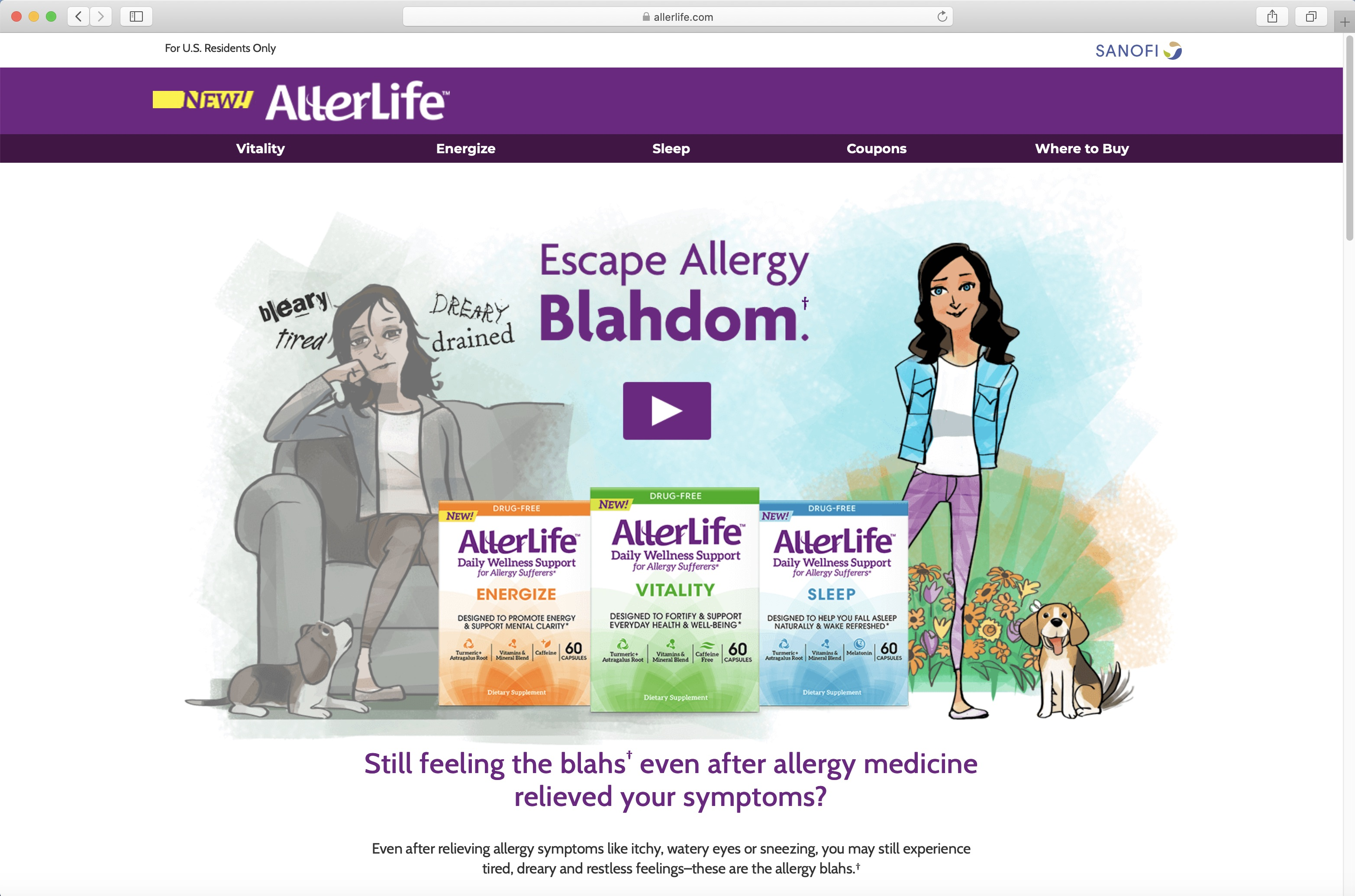 AllerLife Home Page