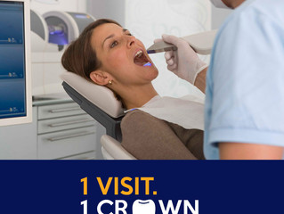 CEREC One-Appointment Crowns, saves you time!