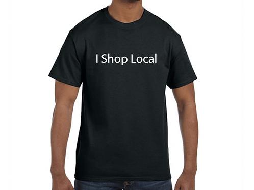 """Men's """"I Shop Local"""" Black T"""
