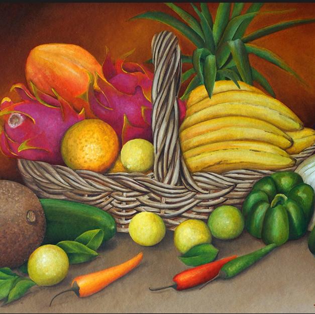 Canasta con Frutas