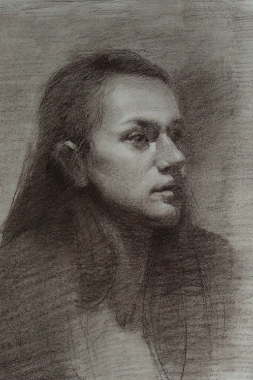 """Sepia Drawing """"Lucia"""""""