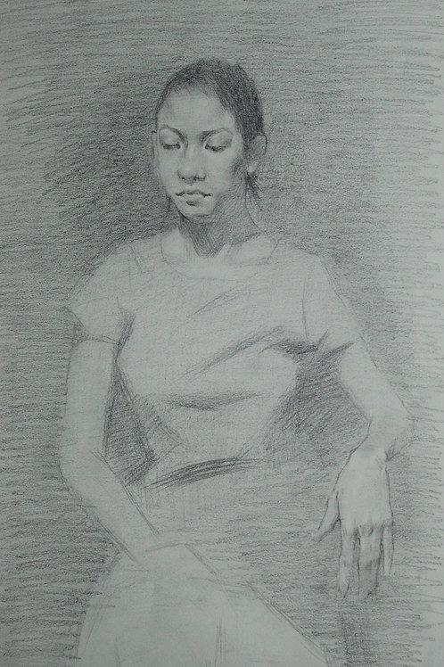 "Sepia Sketch ""Alma"""