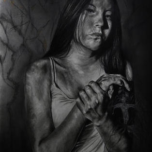 Mujer con mandrágora
