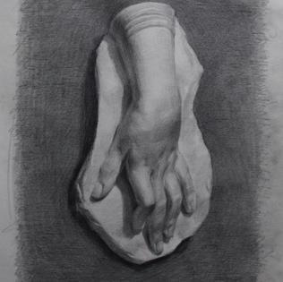 Escultura de mano