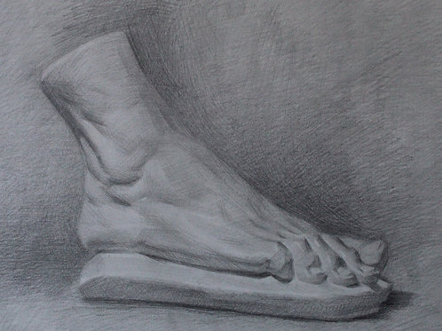 Foot Cast Drawing