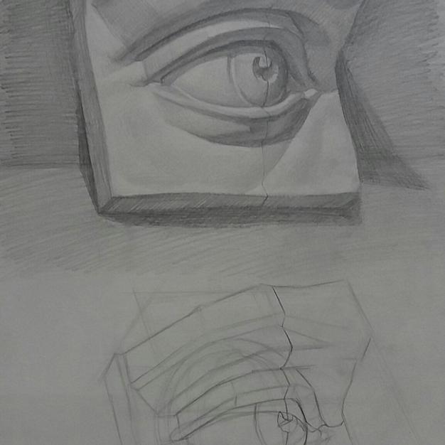 Estudio analítico escultura ojo