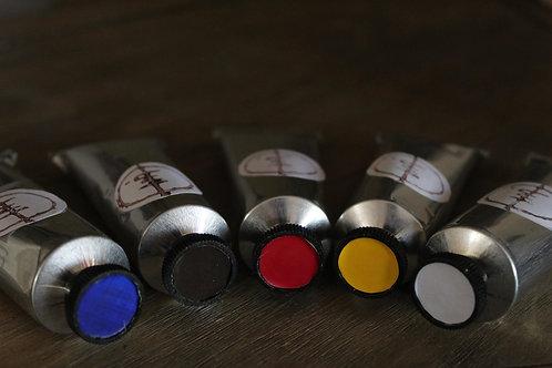 Five Oil Paint Tubes Set
