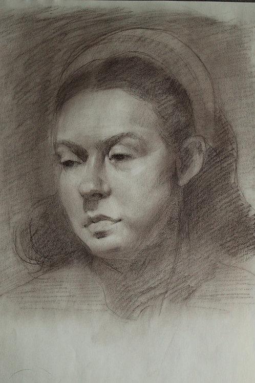 "Sepia Sketch ""Valeria"""