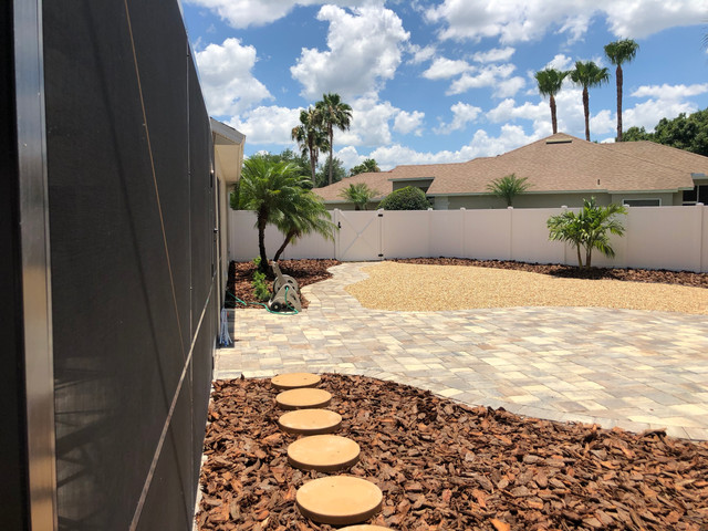 Walkway around pool