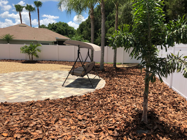 Backyard Paver area