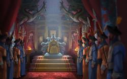 East Asian Palace court scene