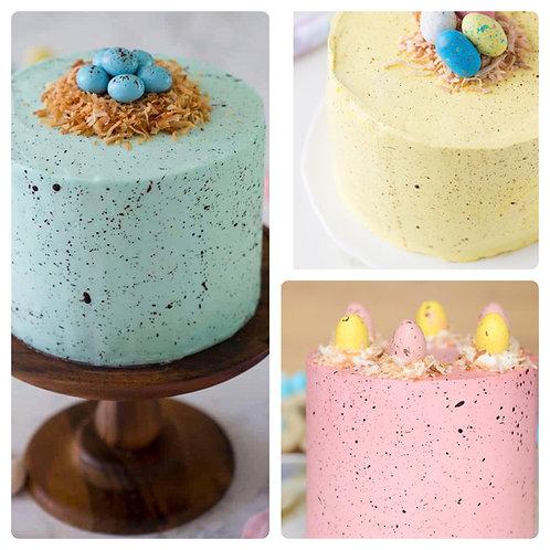 Speckled Egg Easter Cake