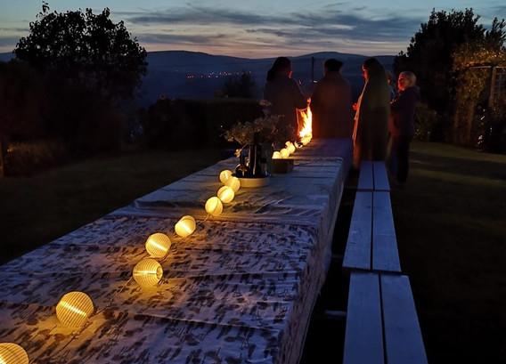 Table settings Yoga for Autumn Health
