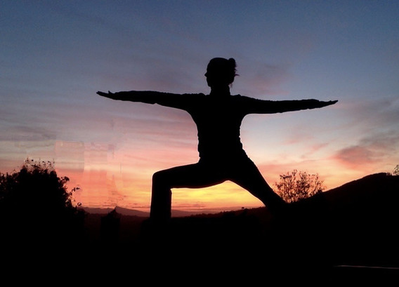 Warrior 2 at sunset