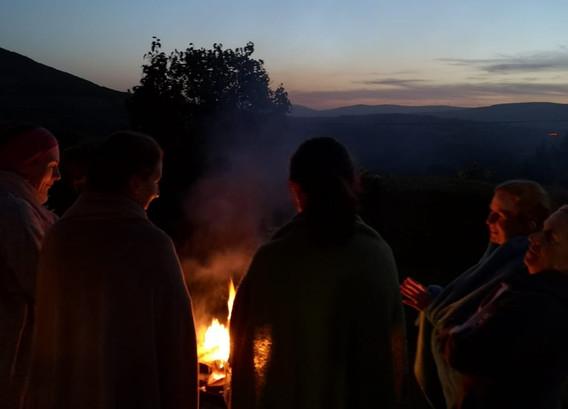 Camp Fire Yoga for Autumn Helath