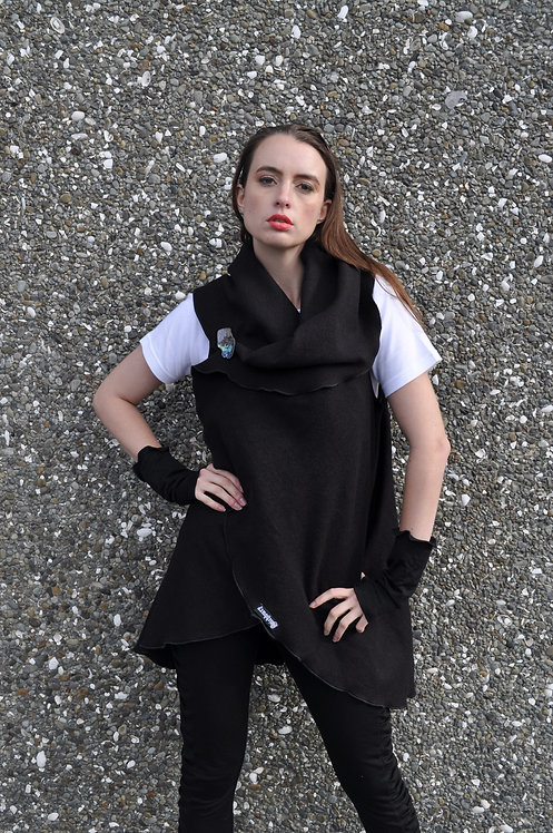 Mood Cape - Black Wool