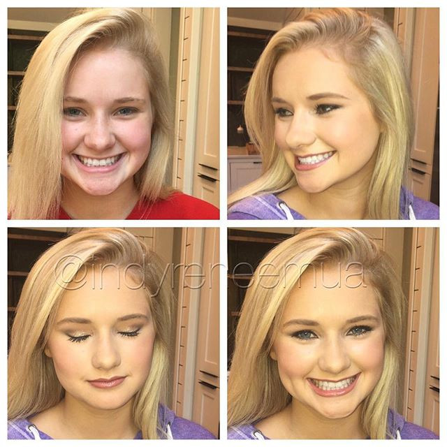 Homecoming tonight for this beauty! _alidulin Have a great time! #makeup #makeover #beforeandafter #indymua #indy #carmelindiana #westfieldi