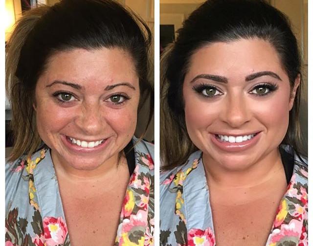 Makeup by me! 😍💋 #beforeandafter #makeupmagic #mua #makeup #indianapolis  #indy #indybride #indywedding