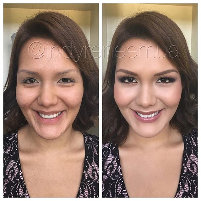 #indymua #makeup #makeover #makeupbyme #makeupartist #makeupforever #smokyeyes #beforeandafter #carmelindiana #indianapolis #indywedding #sl