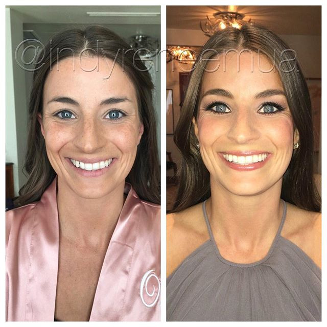 Thank you _oliveandhue for introducing me to an amazing group of ladies! #indy #indiana #indianapolis #makeup #makeover #beforeandafter #mak