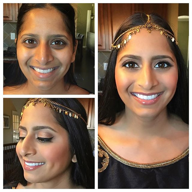 _missbxoxox You look so beautiful!!😍 such a pleasure meeting you and doing your makeup today! #beforeandafter #mua #slaybyrenee #indianapoli