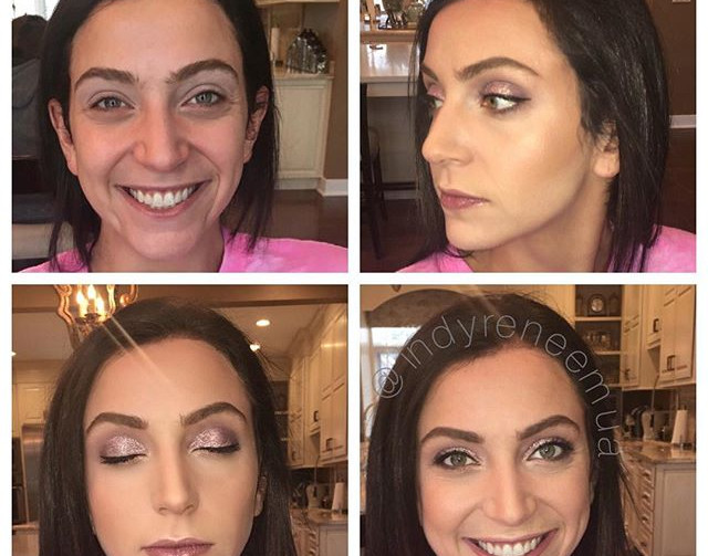 This beauty has amazing eyes!!😍🙌🏼 I could spend an hour on them! #makeup #makeover #beforeandafter #indymua #indymakeupartist #indianapolism