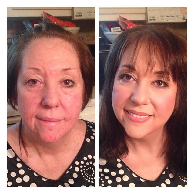 My very own mama! 😍❤️One of the BEST makeovers I've ever done! 😊#makeup #beforeandafter #indianapolis #aginggracefully #ageisjustanumber #be