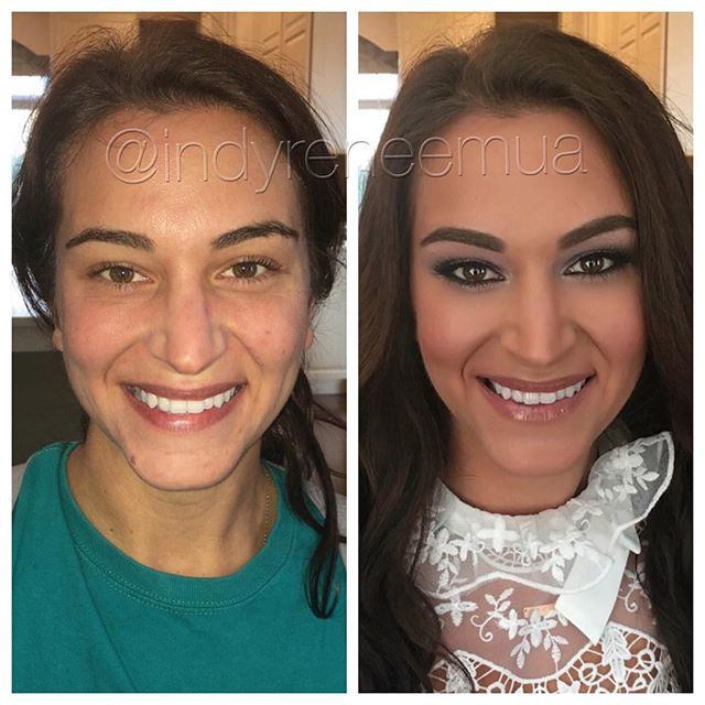 Congrats Shelby!!💕💄😍 #indy #indianapolis  #carmelindiana #beforeandafter #makeover #makeup #makeupbyme #lauramercier #makeupartistsworldwide