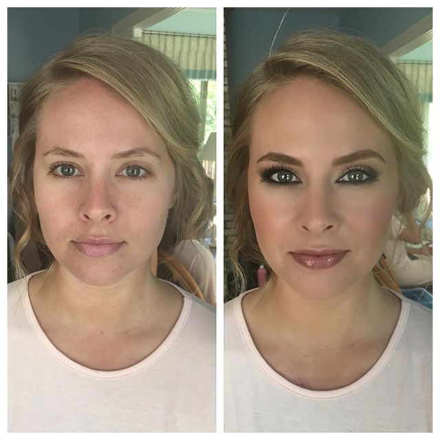 #beforeandaftermakeup #anastasiabrows #thebalm #makeupforever #morphebrushes  #slaybyrenee #makeup #indybride #indywedding #bridesmaid #make