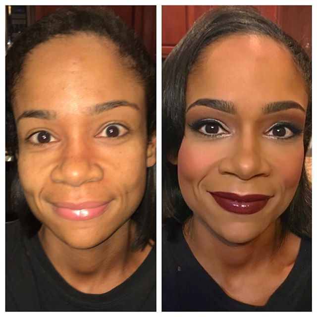 Makeup on my bad-ass client _eve_fitchick for her figure competition today! Good luck, Eve!!💪🏾👙🏋🏾🏆 #indianapolis #figurecompetitor #npc #fig