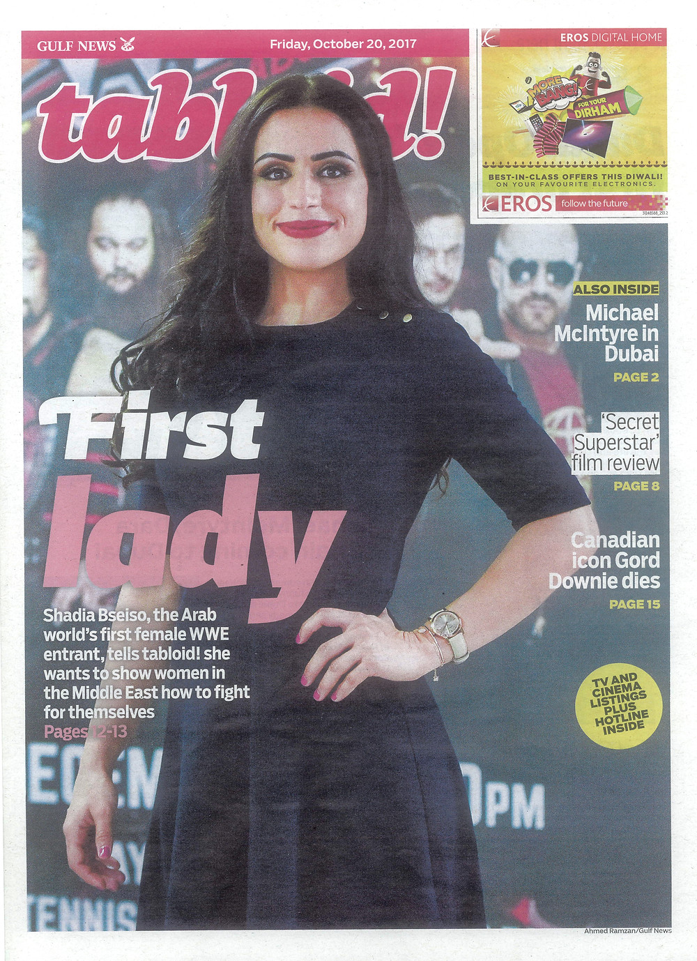 Shadia Bseiso cover - tabloid!