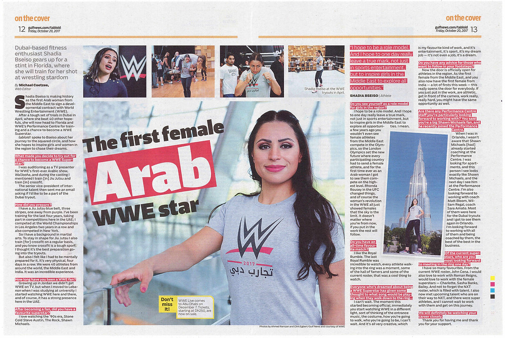 Shadia Bseiso double-page feature tabloid!