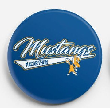 "2.25"" Mustangs Pinback Button"