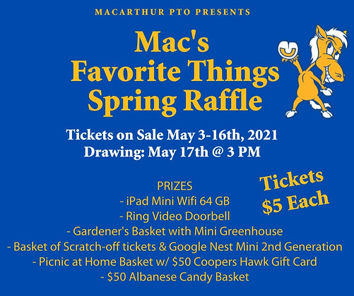 Mac's Favorite Things Raffle Ticket
