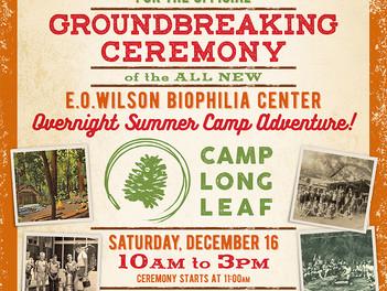 Camp Longleaf Groundbreaking Celebration