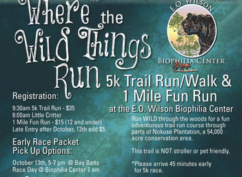 Where The Wild Things Run 5K Trail Run & 1 Mile Fun Run