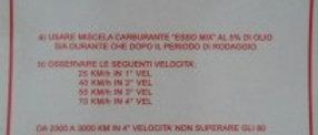 Adesivo rosso rodaggio 5% Vespa 4 marce