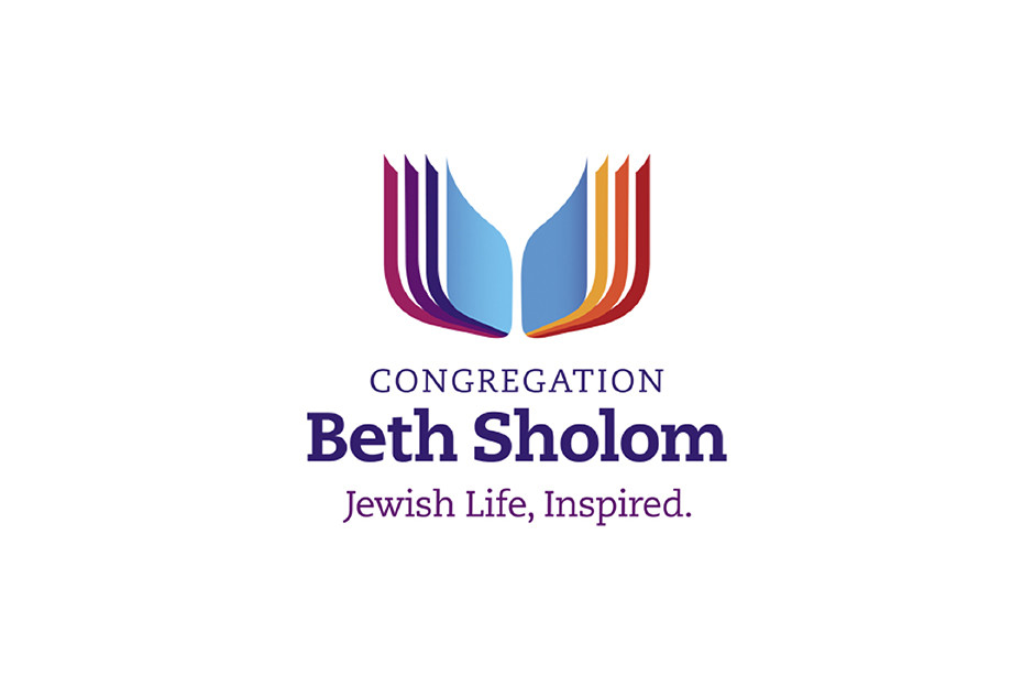 Logo with book image reflects congregation's focus on learning