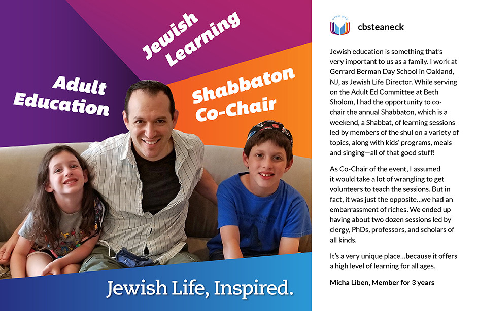 Custom social media graphic accompanies mini interview with congregation member