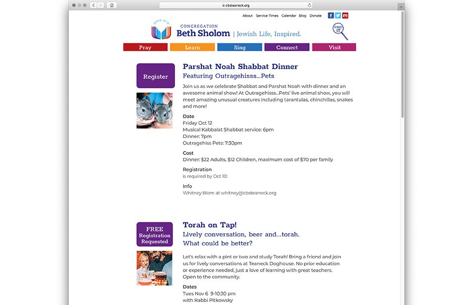Website level 3 page