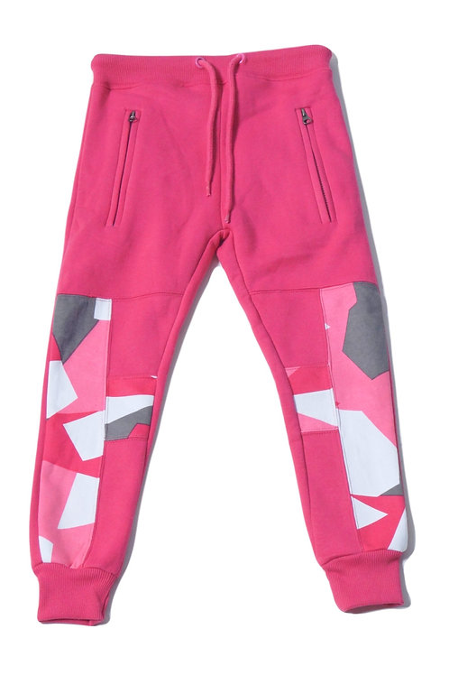 Youth HG Signature Camo Jogger - Pink/Grey