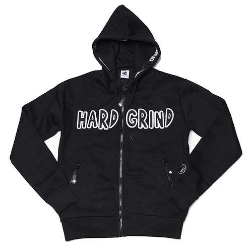 Mens HG Classic Zip Hoodie - Black/White