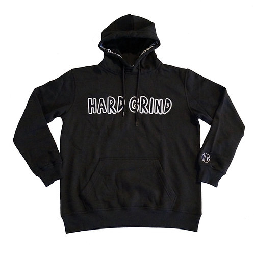 Mens HG Classic Pullover Hoodie - Black/White